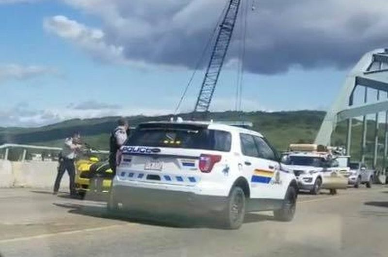 Peace River RCMP Arrest Armed Suspect In Dramatic Bridge Takedown