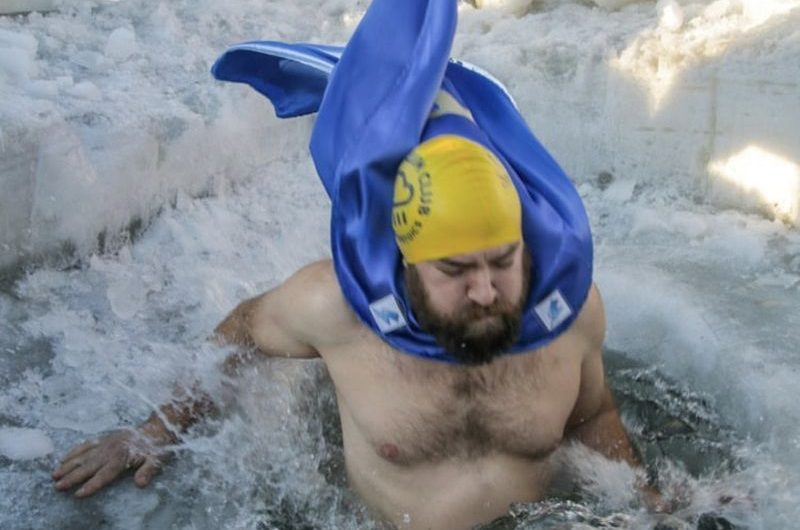 PR's 'Iceman' completes 100th dip