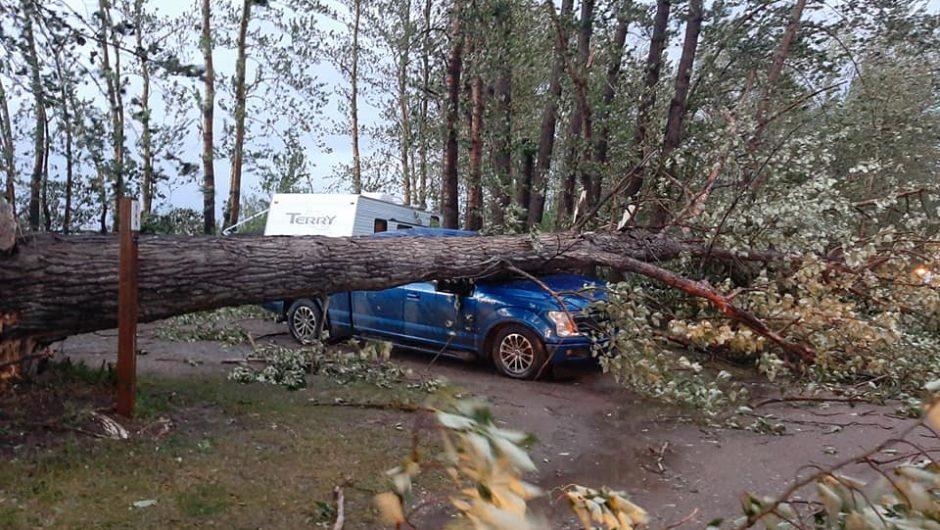 Wind damages Spruce Point Park